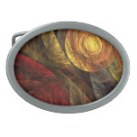 The Spiral of Life Abstract Art Oval Belt Buckle
