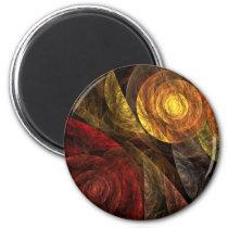 abstract, art, decorative, fine art, modern, round, magnet, Ímã com design gráfico personalizado