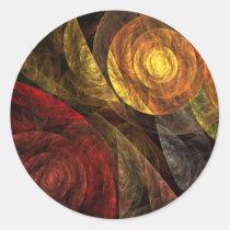 spiral, life, abstract, art, round, sticker, Sticker with custom graphic design