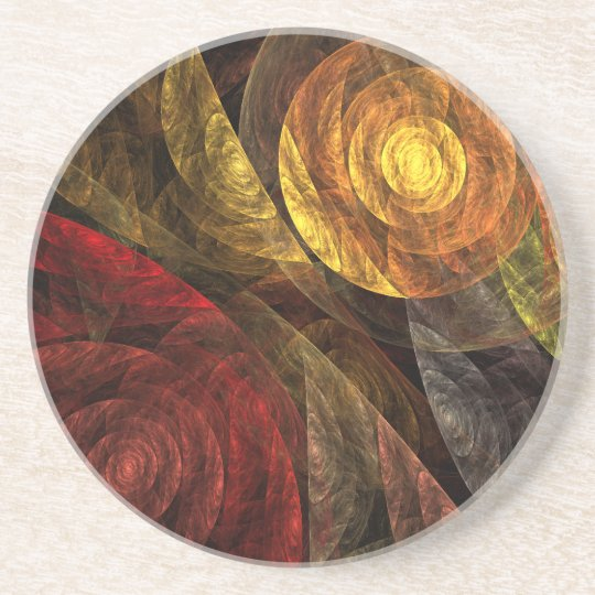 The Spiral of Life Abstract Art Sandstone Coaster