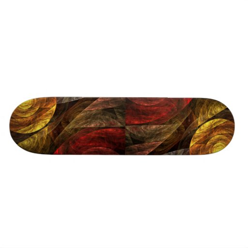 The Spiral of Life Abstract Art Skateboard
