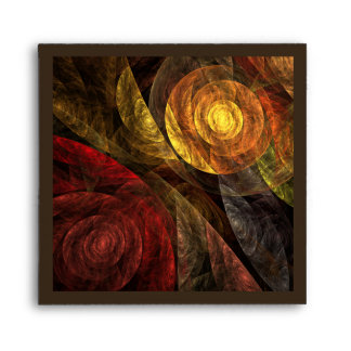 The Spiral of Life Abstract Art Square Envelope