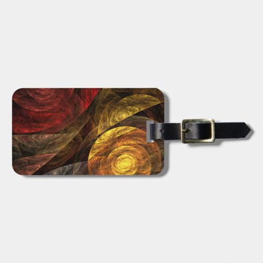The Spiral of Life Abstract Art Tag For Luggage