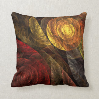 The Spiral of Life Abstract Art Throw Pillow