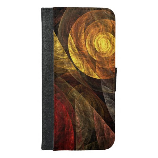 The Spiral of Life Abstract Art Wallet Case
