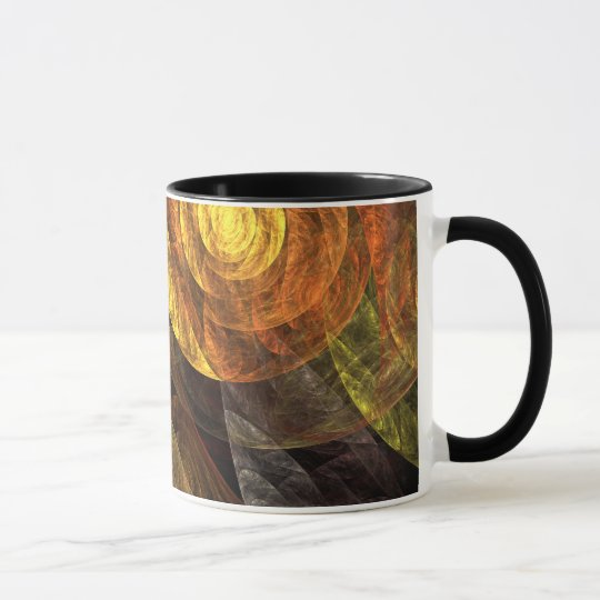 The Spiral of Life Abstract Coffee Mug