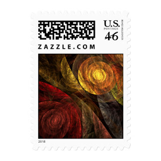 The Spiral of Life Abstract Postage Stamp