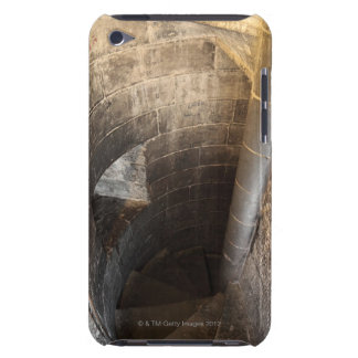 The spiral staircase leading to the top of the barely there iPod case