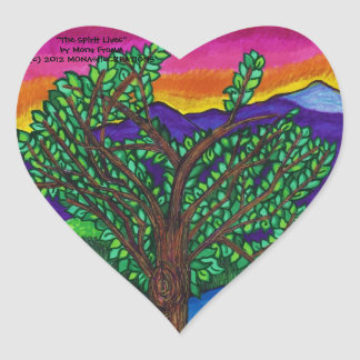 """""""The Spirit Lives"""" Heart Stickers"""