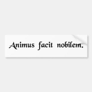 The spirit makes (human) noble bumper sticker