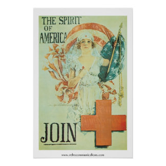 The Spirit of America- Vintage Red Cross Poster