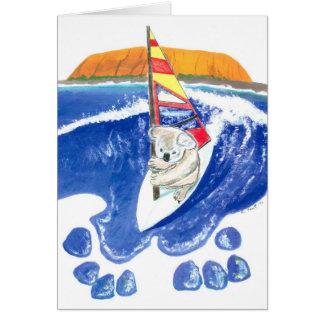 The Spirit of Australia - Koala Bear wind surfing Greeting Cards