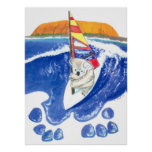 The Spirit of Australia - Koala Bear Wind Surfing Poster