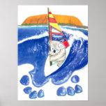 The Spirit of Australia - Koala Bear Wind Surfing Poster