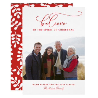 The Spirit Of Christmas Holiday Card