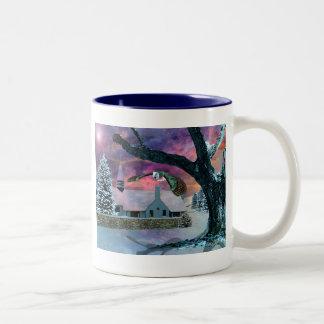 The spirit of Christmas Two-Tone Coffee Mug