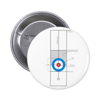 The spirit of Curling 2 Inch Round Button