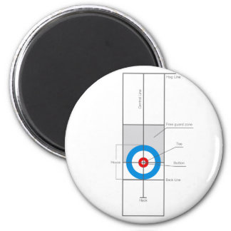 The spirit of Curling 2 Inch Round Magnet