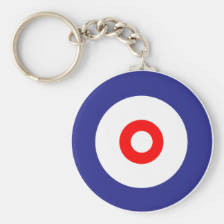 The spirit of Curling Basic Round Button Keychain