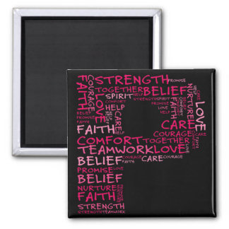The Spirit of Hope (Letter P - Part of Set) 2 Inch Square Magnet