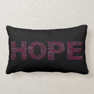 The Spirit of Hope (Pink Text) Pillow