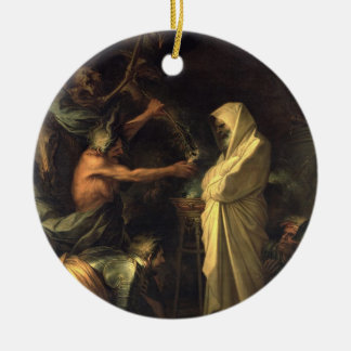 The Spirit of Samuel appearing to Saul at the hous Ceramic Ornament