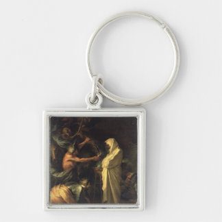 The Spirit of Samuel appearing to Saul at the hous Keychain