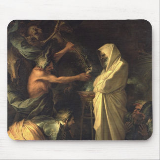 The Spirit of Samuel appearing to Saul at the hous Mouse Pad