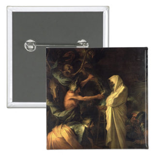 The Spirit of Samuel appearing to Saul at the hous Pinback Button