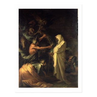 The Spirit of Samuel appearing to Saul at the hous Postcard