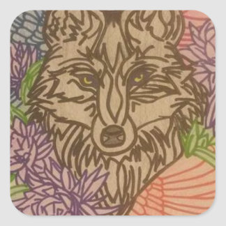 THE SPIRIT OF THE WOLF SQUARE STICKER