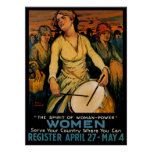 The Spirit of Woman Power Poster