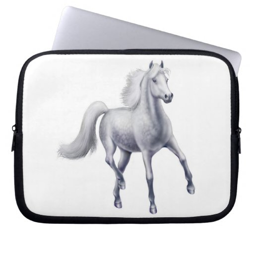 The Spirited Gray Horse Electronics Bag Computer Sleeve