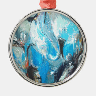 The Spiritual War ( abstract expressionism ) Metal Ornament
