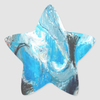 The Spiritual War abstract expressionism Star Sticker
