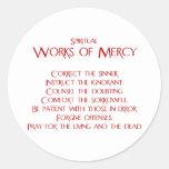 The Spiritual Works of Mercy Classic Round Sticker