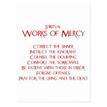 The Spiritual Works of Mercy Postcard