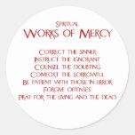 The Spiritual Works of Mercy Sticker
