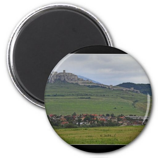 The Spis Castle The Largest Castle Of Central Euro 2 Inch Round Magnet