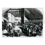 The Spitalfields Soup Kitchen, 1867 Greeting Card