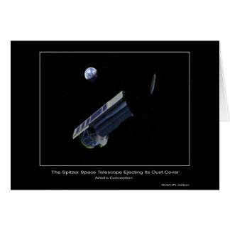 The Spitzer Space Telescope ejecting its dust cove Card