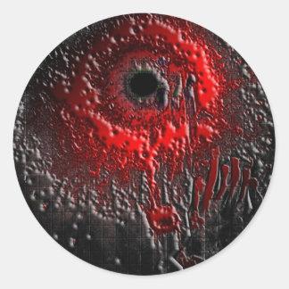 The Splatter Effect Classic Round Sticker