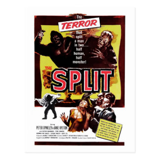 The Split (The Manster) Postcard
