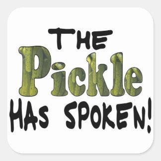 The Spoken Pickle Square Sticker
