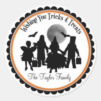 The Spooky Children of Halloween Treat Stickers