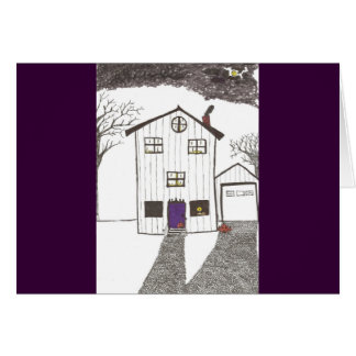 The Spooky House Card