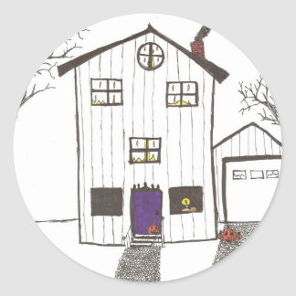 The Spooky House Classic Round Sticker