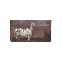 The Spotted Horse Checkbook Cover
