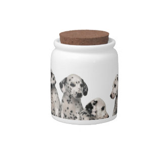 THE SPOTTED LINE -CUTE DALMATIANS CANDY JAR