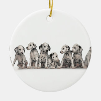 THE SPOTTED LINE -CUTE DALMATIANS CHRISTMAS ORNAMENTS